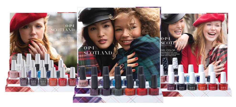 OPI Scotland Collection Displays