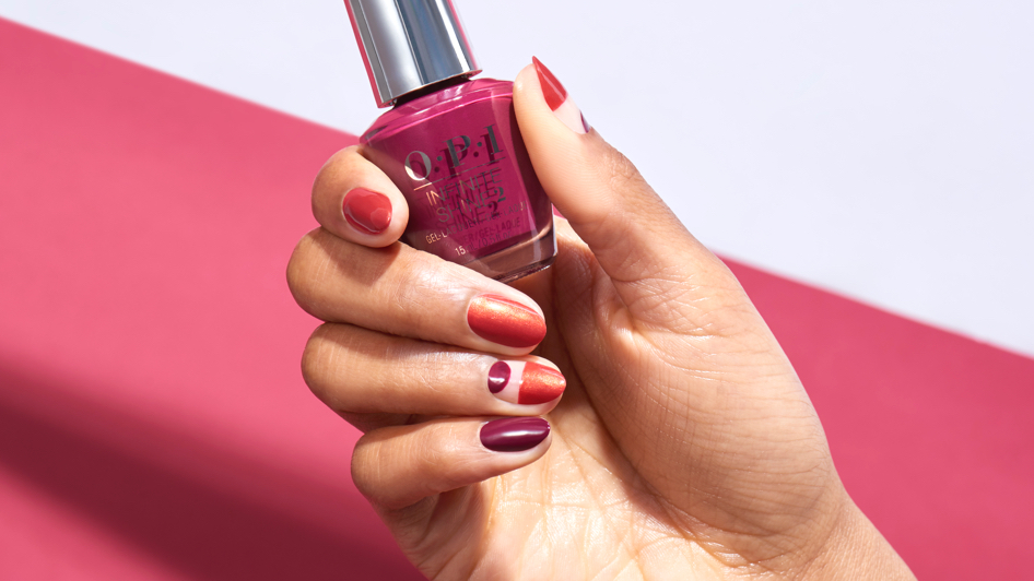 OPI Fan Faves Nail Art Between the Lines