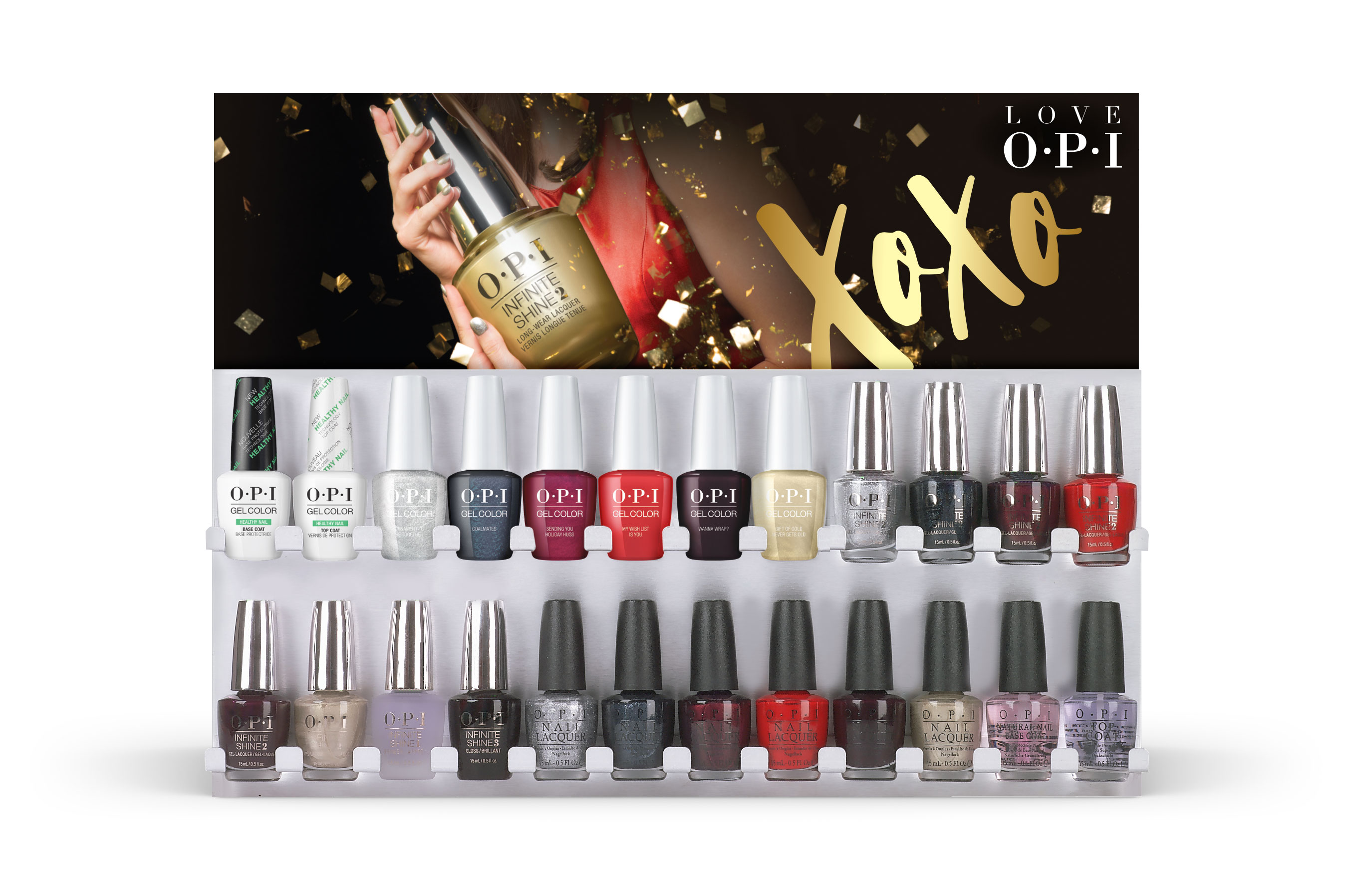 24 Pce GelColor/Infinite Shine/Lacquer Wall Display | OPI