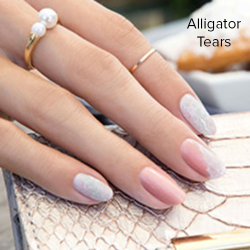 OPI Nail Art: Alligator Tears