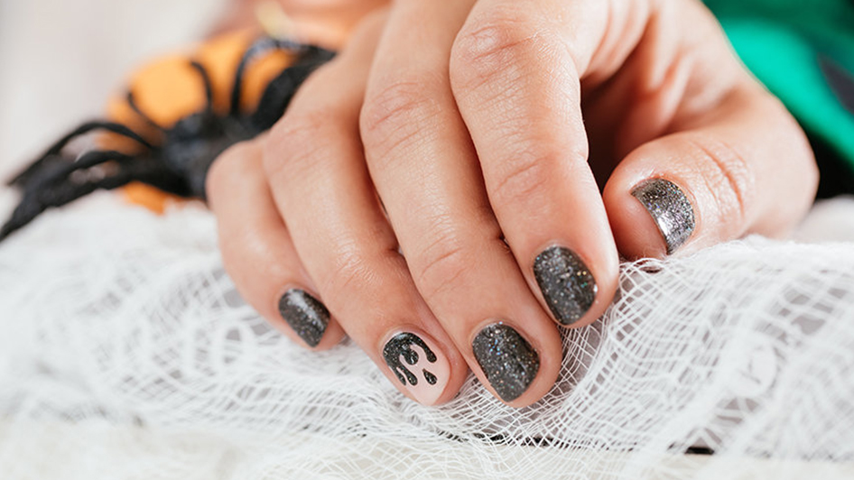 OPI Halloween DIY Drip Nail Art