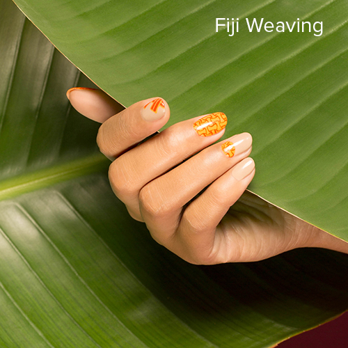 OPI Nail Art: Fiji Weaving