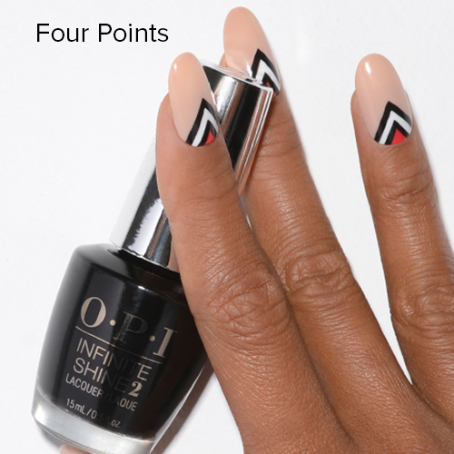 OPI Nail Art: Four Points