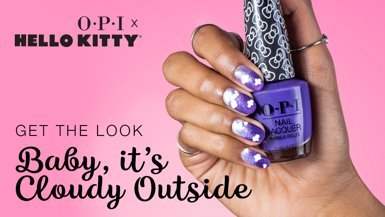 OPI x Hello Kitty Nail Art Baby It's Cloudy Outside