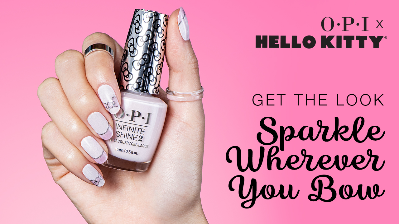 OPI x Hello Kitty Nail Art Sparkle. Wherever You Bow
