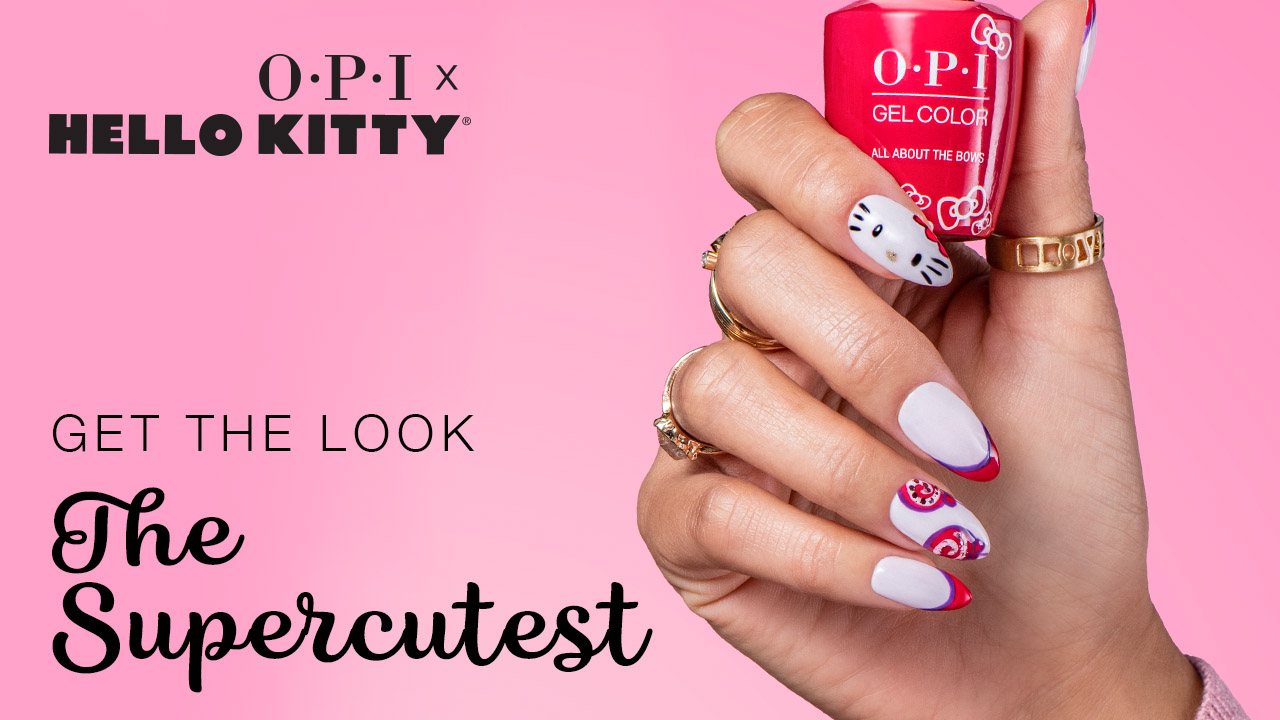 OPI x Hello Kitty Nail Art The Supercutest Video Tutorial