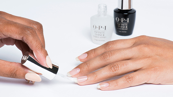 OPI Infinite Shine Base Coat Application