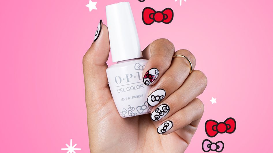 Put a Bow On It Hello Kitty Holiday Gel Polish Nail Art