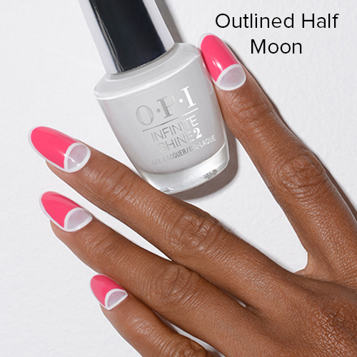 OPI Nail Art: Outlined Half Moon