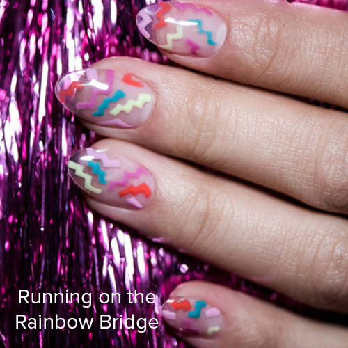 OPI Nail Art: Running on the Rainbow Bridge