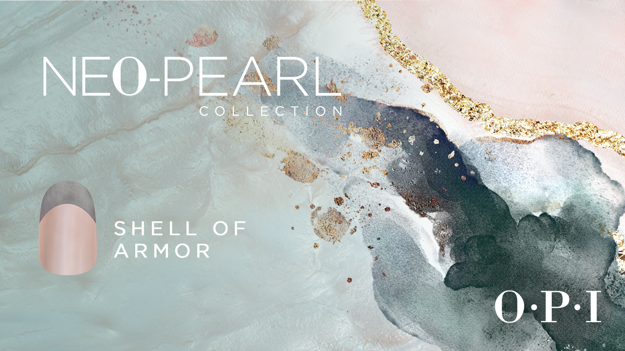 Shell Of Armor OPI Neo-Pearl Nail Collection Nail Art