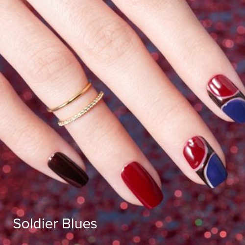 OPI Nail Art: Soldier Blues