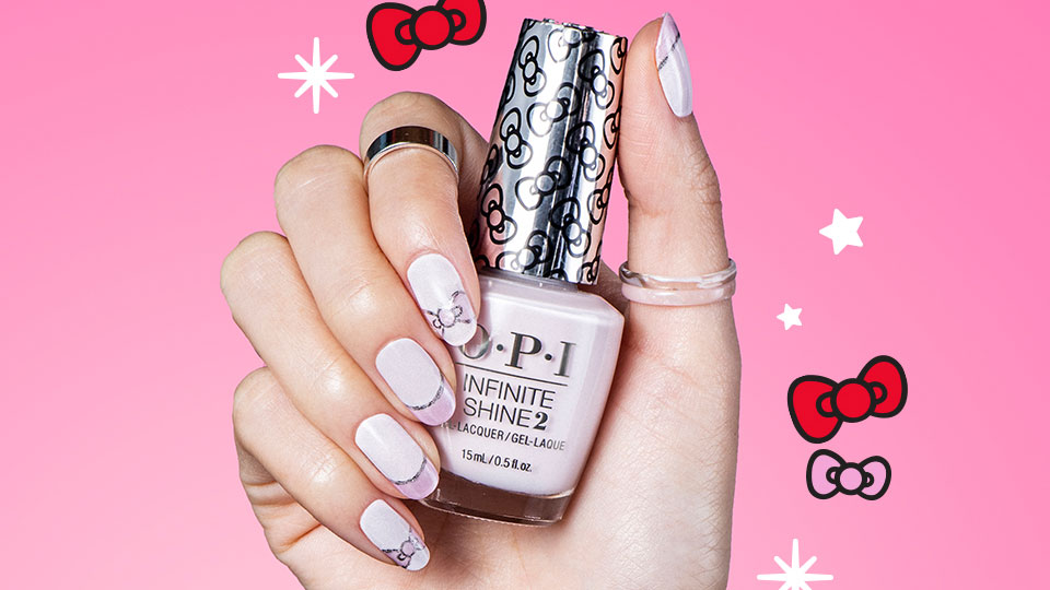 OPI x Hello Kitty DIY Nail Art Sparkle Wherever You Go