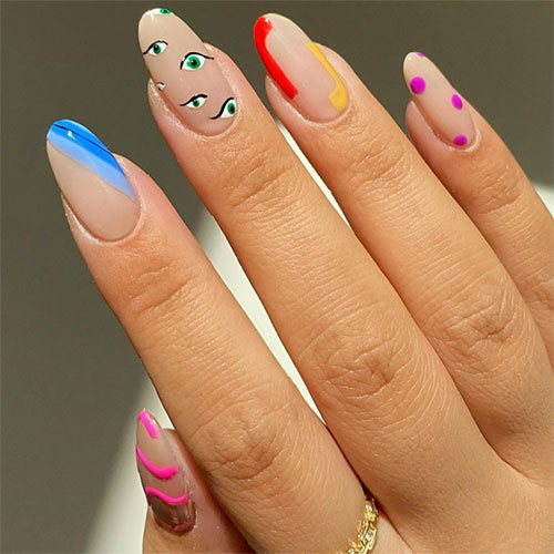Colorful Nail Art by Amy Le