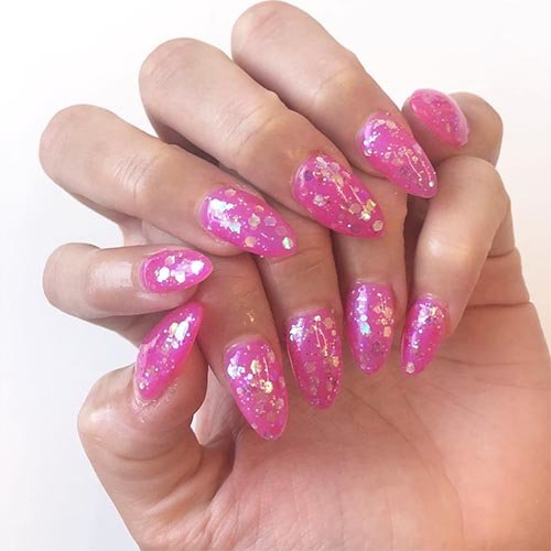 OPI Spring Tokyo Collection Nail Art inspiration Bright Fuchsia
