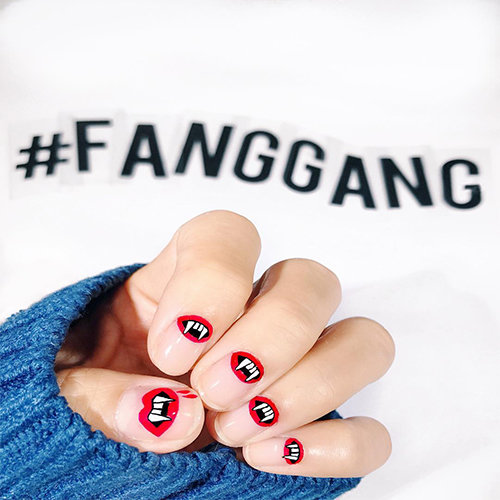 Try vampire nail art this Halloween