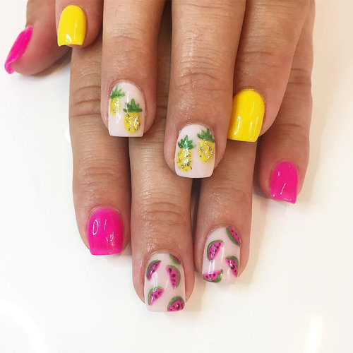 The perfect #fruitart pair...on your nails