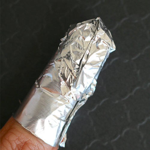Step 3: Wrap in foil and wait