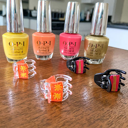 DIY Crafts with OPI Nail Polish for Hair Clips