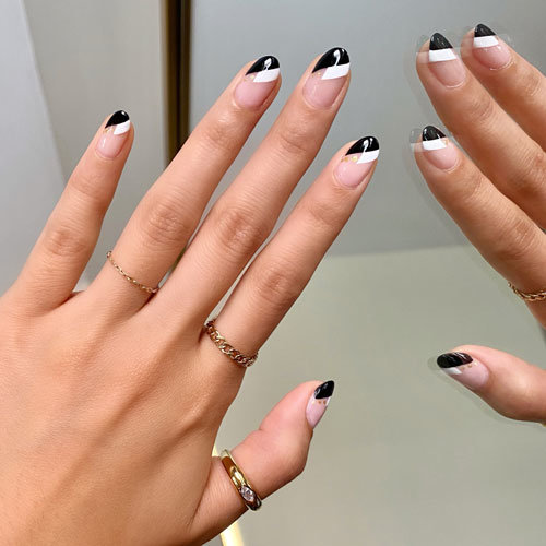 White Nail Art Look