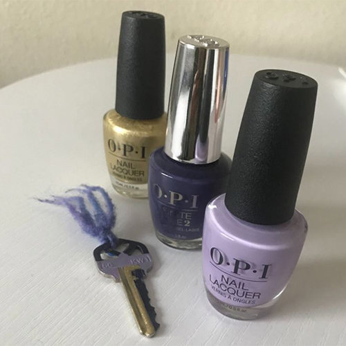 Paint your Keys with OPI Nail Polish
