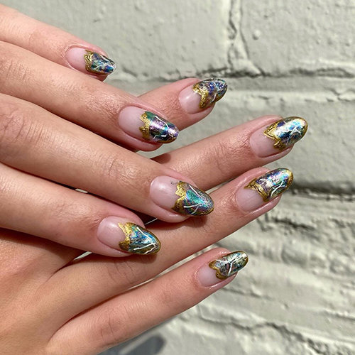 Abstract and Metallic Nail Art @nailartbyqueenie