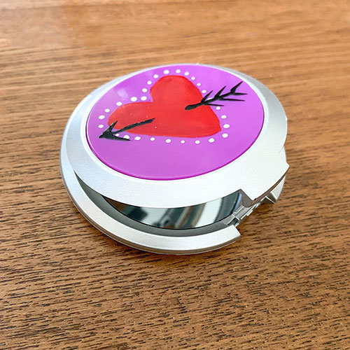 DIY Crafts with OPI Nail Polish for Compact Mirror