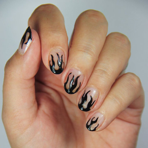 Flame Nail OPI Trends