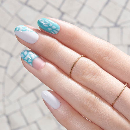 Geometric Nail Art: In the Cobblestone Zone