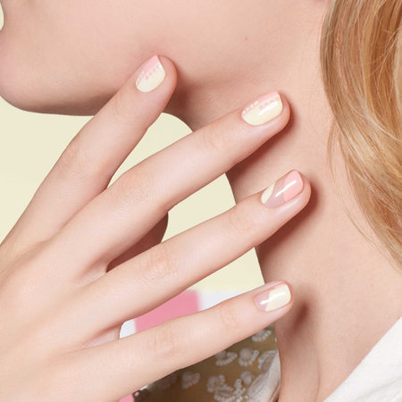 Colorblocking Nail Art: Good Girls Like Grease