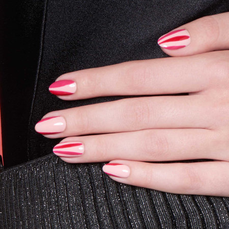 Colorblocking Nail Art: I'll Have a Pink Lady