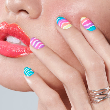 Colorblocking Nail Art: Rainbow Rave