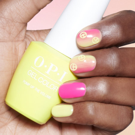 OPI Pro nail art look Sunset at the Main Stage