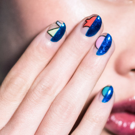 Colorblocking & Linework Nail Art: Tokyolo
