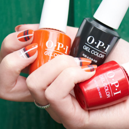 Orange You Plaid Pro Nail Art