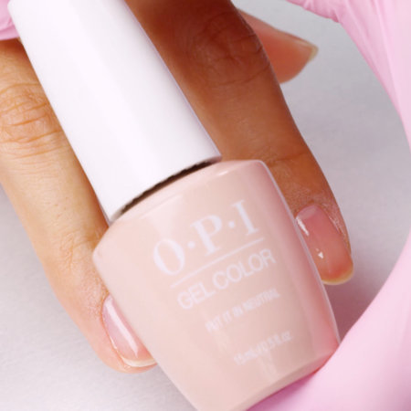 Shake OPI GelColor Put It In Neutral vigorously for 1 minute