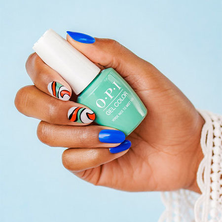 Professional Colorblocking Nail Art: El Raul