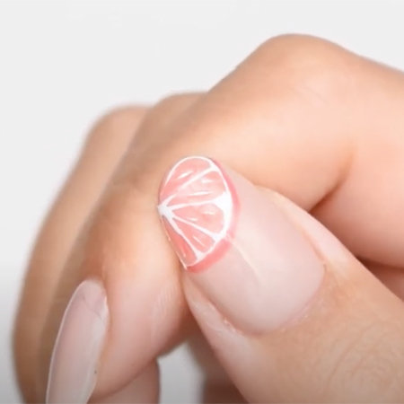 OPI Pro Nail Art Look: I'm Berry Grapefruit For U