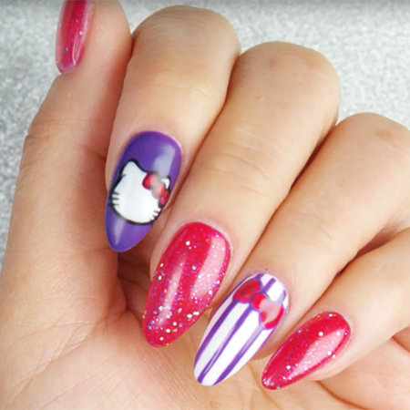 Linework Nail Art: Go With the Bow