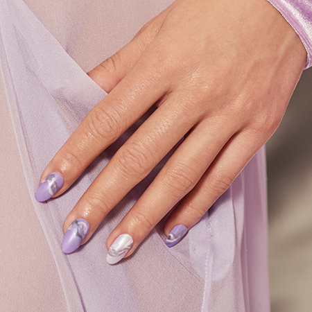 Marble Nail Art: Set in Lavender Stone