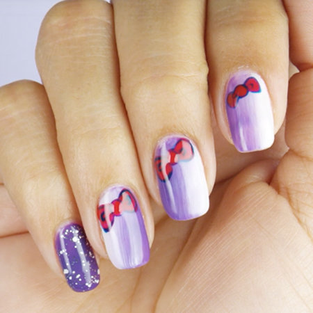 Ombre Nail Art: Pretty In Purple