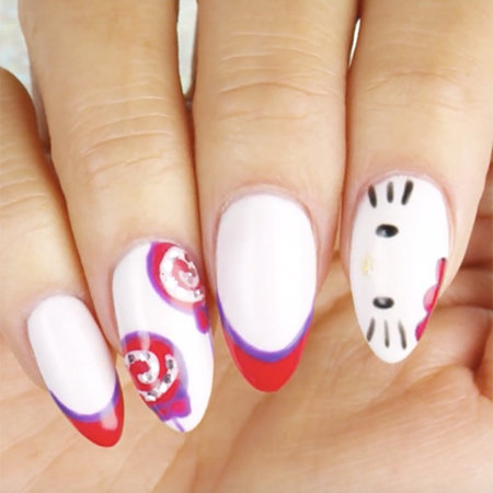 Linework Nail Art: The Supercutest