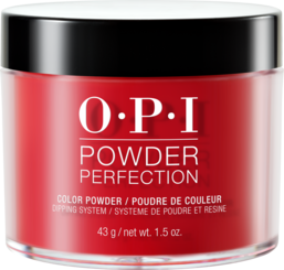 OPI Powder perfection dipping powder product in shade Big Apple Red