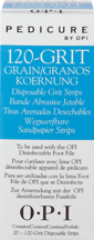 Disposable Grit Strips - 120 Grit - Pedicure by OPI - OPI
