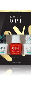 OPI LOVE OPI XOXO GelColor Top and Base coat trio pack