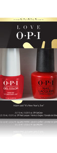 OPI LOVE OPI XOXO GelColor 7.5 mL bottle and nail lacquer duo pack #1