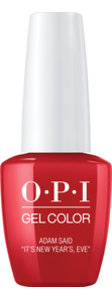 "OPI LOVE OPI XOXO Collection GelColor nail lacquer 15 mL bottle Adam said ""It's New Year's, Eve"""