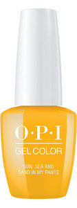 OPI Lisbon Collection GelColor 15 ml nail polish bottle Sun, Sea, and Sand in My Pants
