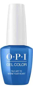 OPI Lisbon Collection GelColor 15 ml nail polish bottle Tile Art to Warm Your Heart