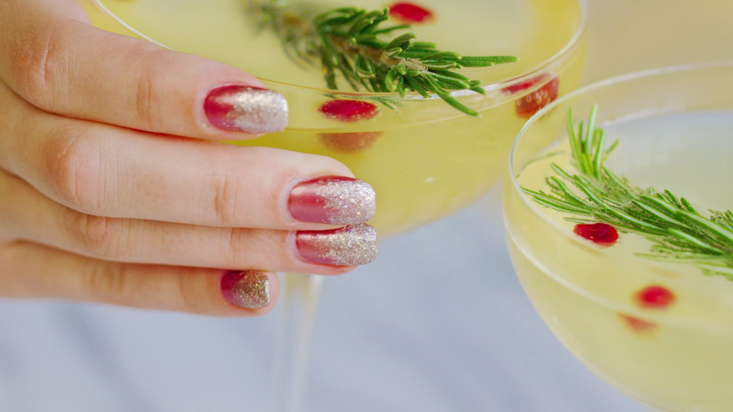 OPI Eats: Pomegranate & Pear Prosecco Cocktail - The Drop Blog by OPI